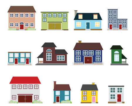 Vector real estate icons Stock Vector - 22601718