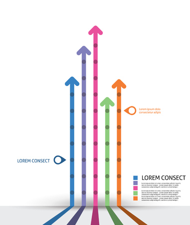 Infographic design template. Idea to display timeline with arrow Vector