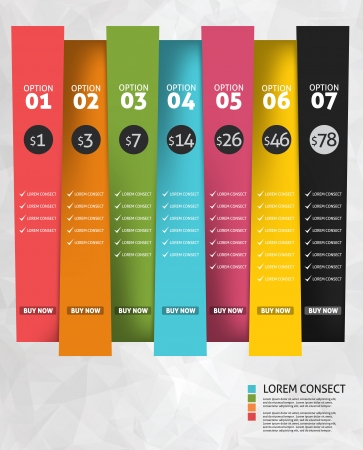 concept design: Modern business options banner. Vector illustration. Infographic and design  Illustration