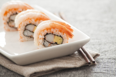 Japanese Sushi -- Sweet Shrimp Roll photo
