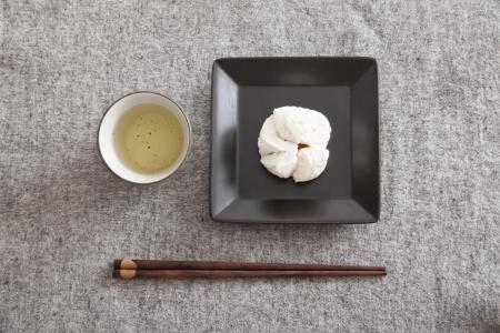 Chinese steamed barbecue pork bun (Dim Sum)