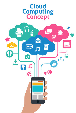 smart phones concept - cloud computing Vector
