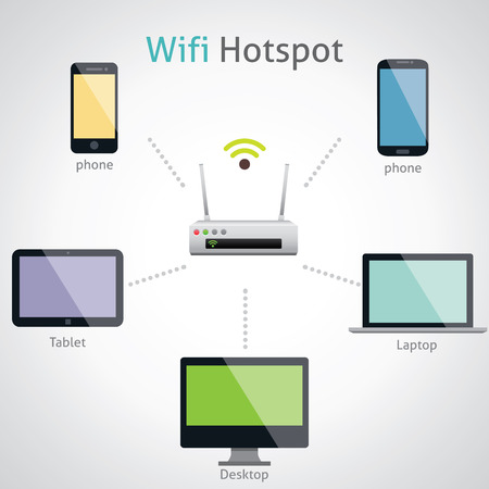 router: Vector Wireless Router Icons Illustration