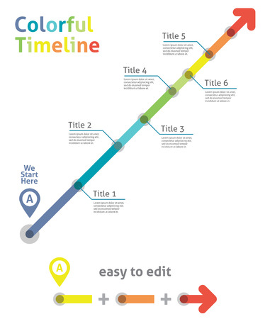 Timeline arrow  Vector