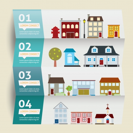 houses icons. vector illustration. Infographic Vector