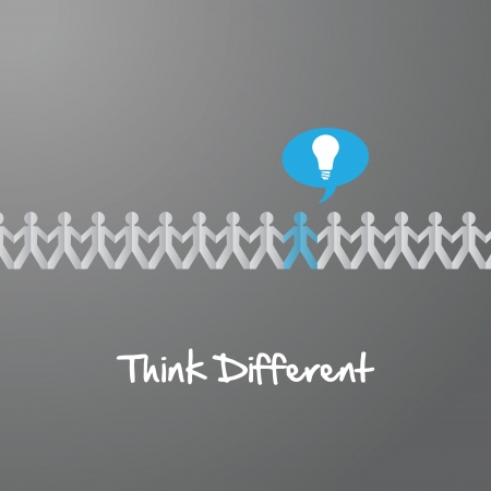 think different: Think Different paper people Illustration