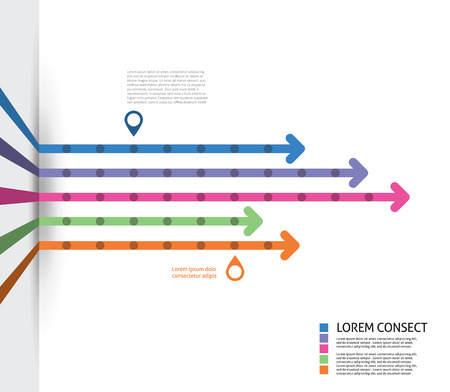 Colorful Flat Arrow Timeline Template