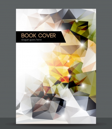Abstract 3D geometric colorful cover