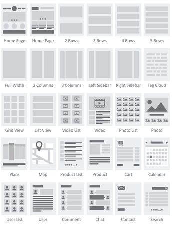 Website Flowcharts and Site Maps AI  Ilustrace