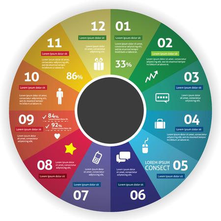 grafica de pastel: Gráfico Círculo Infografía
