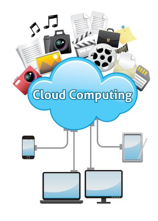 Cloud computing abstract background concept Vector
