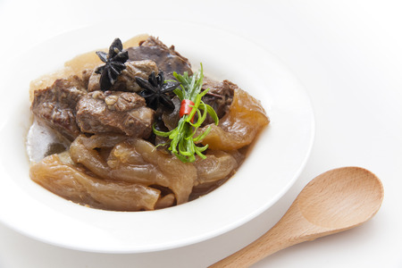 Chinese cuisine, beef stew and beef tendon photo