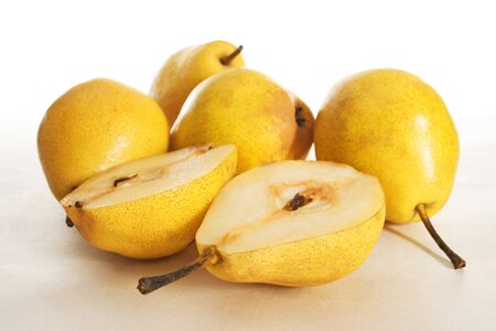 snack foods fruit fruit pear half Stock Photo - 8589241