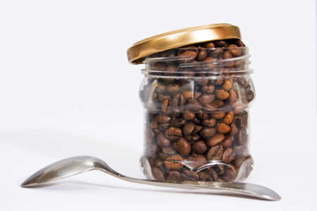 winnower: one can of roasted coffee beans a spoonful of brown sugar
