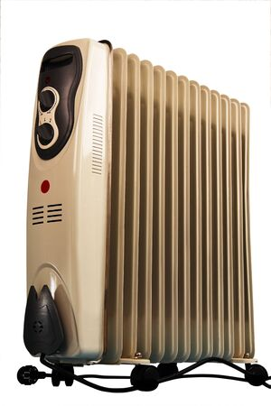 oil cooler room  home heater  Isolated white background  photo