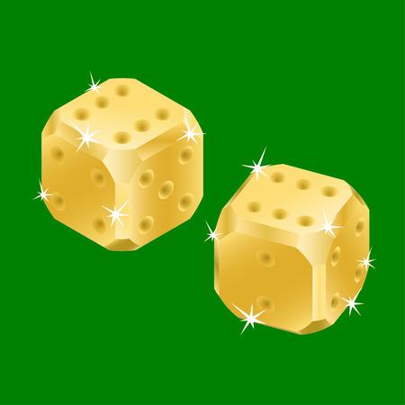 Golden dices Stock Vector - 6195133