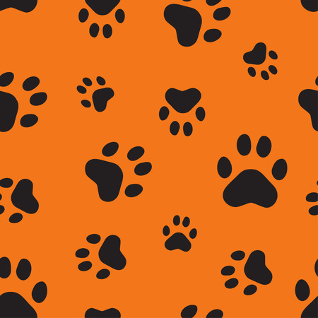 bear footprints: Seamless pattern with animal traces