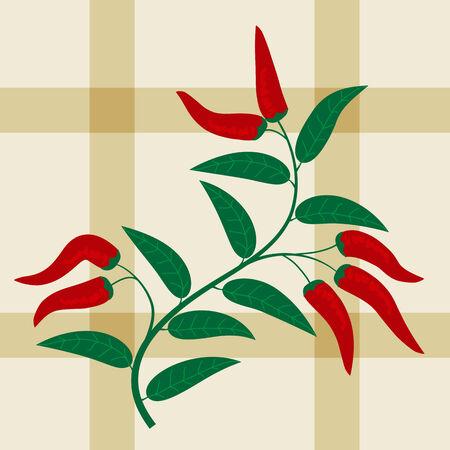 Naadloze patroon met peper