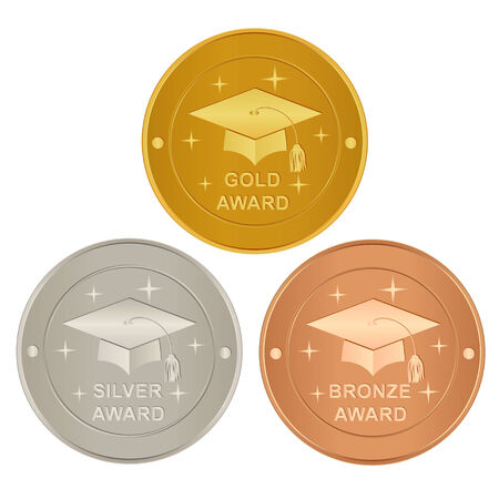 Set of academic awards Vector