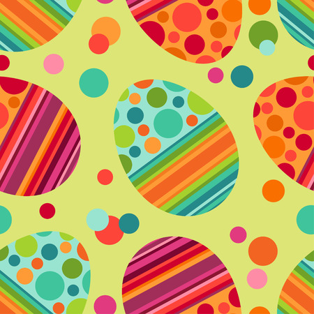 Easter seamless pattern with decorated eggs Vector