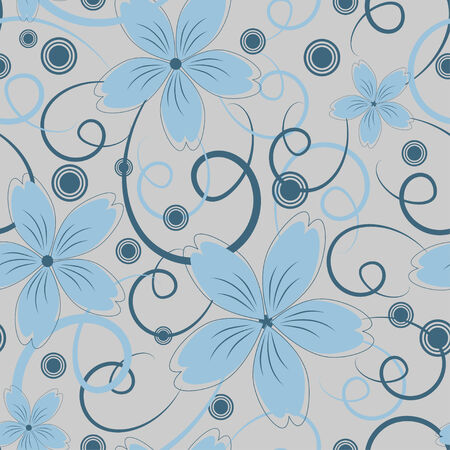 Seamless pattern with elegant flowers Vector