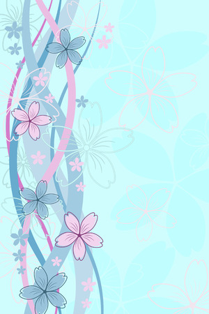 Ornament with elegant flowers Stock Vector - 6417903