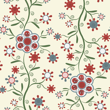 art materials: Seamless pattern with elegant flowers