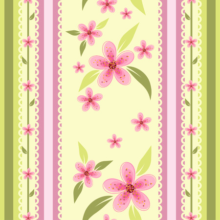 textile image: Floral seamless wallpaper