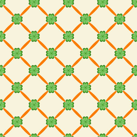 Patricks Day seamless pattern Vector