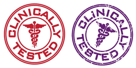 clinical: Clinically tested stamp