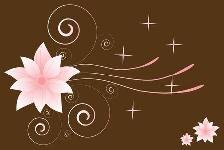 Elegant floral ornament Vector