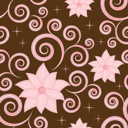 Elegant seamless pattern with a pink flowers Vector