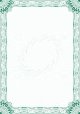 guilloche pattern: Frontera de garant�a para el certificado o diploma Vectores
