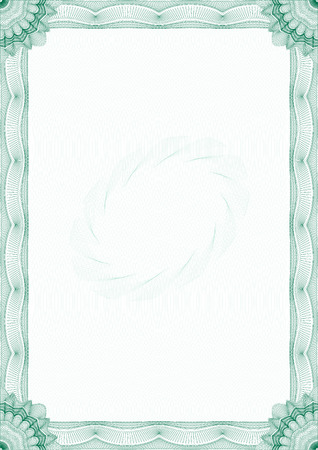 Guilloche border for diploma or certificate Vector
