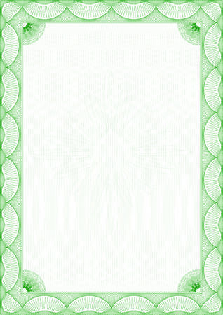 Guilloche border for diploma or certificate Stock Vector - 6553534