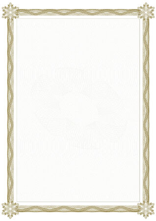 Guilloche border for diploma or certificate Stock Vector - 6553545