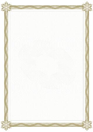 guilloche: Guilloche border for diploma or certificate Illustration