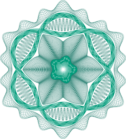 Guilloche rosette, pattern for currency, certificate or diplomas Stock Vector - 6553495