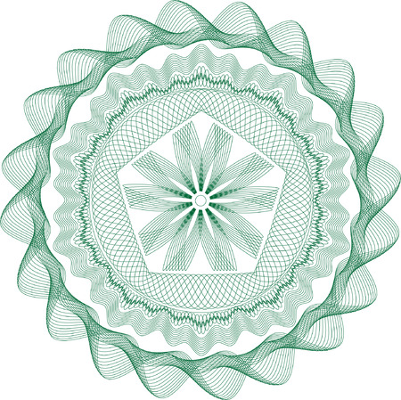 Guilloche rosette, pattern for currency, certificate or diplomas Vector
