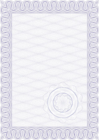 Guilloche style form for diploma or certificate Stock Vector - 6553546