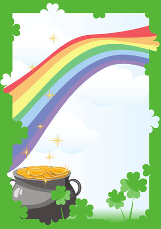 St. Patricks Day postcard Vector