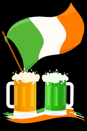 St Patricks Day postcard Vector