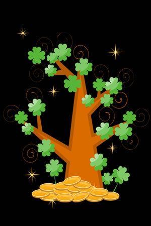 St Patricks Day postcard Vector