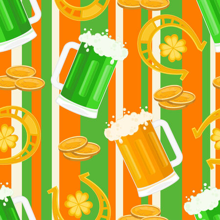 St Patrick's Day seamless pattern Stock Vector - 6654361