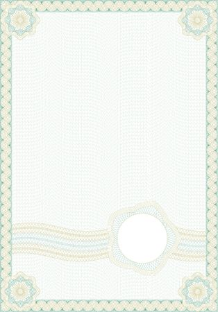 Guilloche style form for diploma or certificate photo