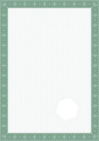 guilloche pattern: Guilloche style form for diploma or certificate Stock Photo