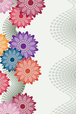 Invitation card with flowers Stock Photo - 6926480
