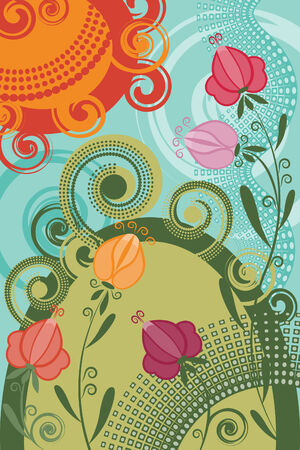 Invitation card with flowers Stock Vector - 7973025