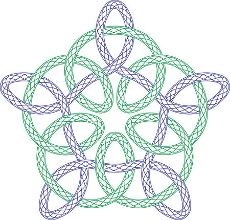 keltische muster: Guilloche Rosette, Vector Muster f�r W�hrung, Zertifikat oder Diplome mit keltischen design Illustration