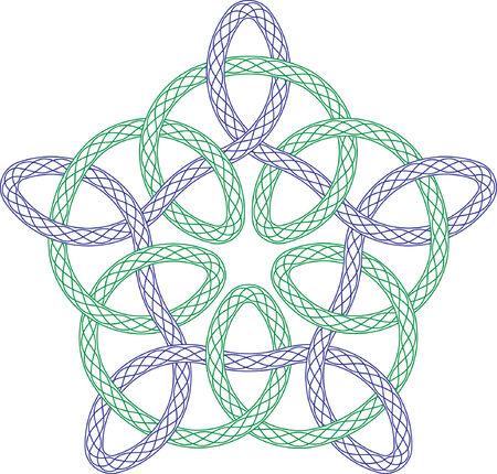 celtico: Rabescato rosone, vector pattern per valuta, certificati o diplomi con celtici design